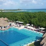 view of the royal service pool and ocean from my balcony