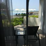 Our private little veranda with lounge chairs