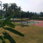 2 of the 10 Tennis Courts at Barcelo Karmina
