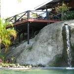 Dining Deck & Waterfall