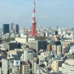 Our view of the Tokyo Tower