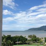 first morning's view over the Cairns Esplanade