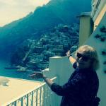 The view of Positano from our balcony