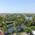 View from my balcony over the river towards Hoi An