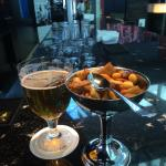 Good beer and snacks at the atrium bar.