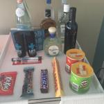 Mini bar in your room. Overly expensive $6 for a snicker bar because of the convenience I rather