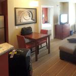 The sitting room is comfortable enough. The decor is spartan, but that's New Residence Inn styli