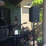 Live music at the pool bar