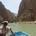The short boat trip across to the Wadi