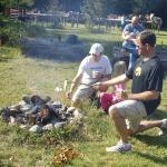 Toast over the campfire on Breakfast Ride morning