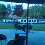 View of Thames boat at the bar