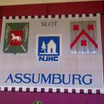 The Assumburg Castle banner in the dining room
