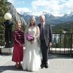 The patio outside the Rundle Lounge is the perfect location for wedding photos