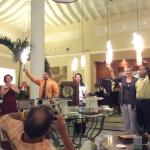 Fancy chocolate party with Manuela (hotel Director), Omaira(assistant Hotel manager),José and Ma