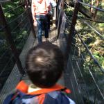 Walking on one of the suspencion bridges in Capilano Park