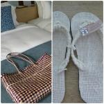 Room amenities - native bag and slippers