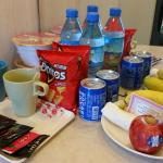 complimentary snack and drink