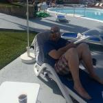 Chilling by the pool!
