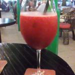 try one bacardi rum with crushed iced stawberry and raspberry juice from magna bar in the plaza