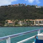 The view from the Palomino Island to the hotel El Conquistador