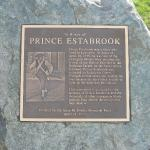 Plaque memorial to Prince Estabrook, a slave who fought and fell..