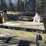 picnic table/deck