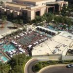 View from our 15th floor room, tower 1 of Wet Republic