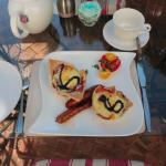 Exquisite breakfast was delicious and presented with intricate artwork!