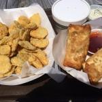 Fried Pickles and LOBSTER egg rolls!
