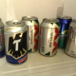 Beverages in room fridge