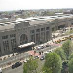 View from our room of Newark PENN Station