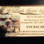 Welcome to McKitrick House Inn Bed and Breakfast