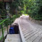 The walk to the room with steps, see its not so bad, move your body people!