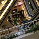 View of the hotel lobby from the 13th floor