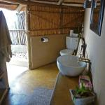 The bathroom in our hut.