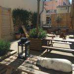 A lovely courtyard for sunny days and a bit of quiet seclusion, a read or a bite of lunch.