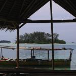 View of deserted island 200m from Pulau Macan