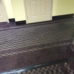 Carpet fixed with tape