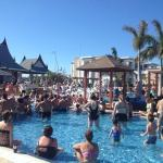 Foam party at the main pool!