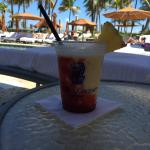 Drinks poolside - delicious!