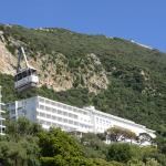 The Rock Hotel with the Gibraltar cable car