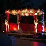 mandap by the pool