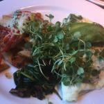 Egg white and kale omelette in Sierra Cafe