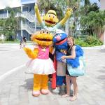 Sesame Street characters roam this resort and greet kids and adults alike (Photo by Beach Maniac
