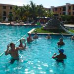 Water Volleyball in the pool every afternoon