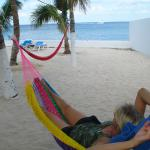 Relaxing on the hammocks by the sea...