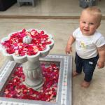 Christiaan at the flower pool