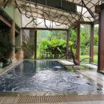 The hot pool...warm and relaxing.