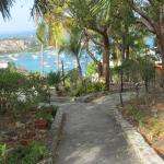 One of the garden paths with a view to Cruz Bay