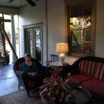 Enjoying the southern style porch